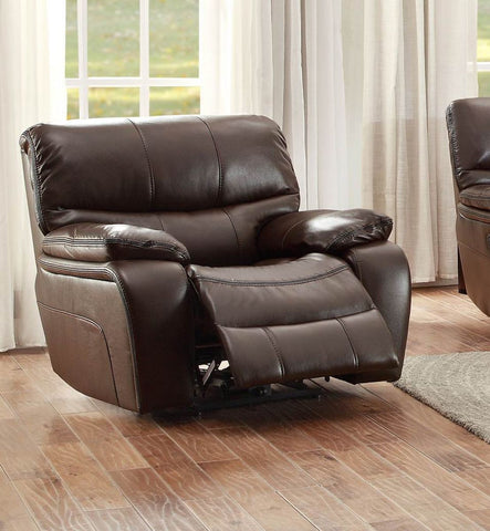 Pecos Collection Power Reclining Chair 8480BRW-1PW - Pearl Igloo - 1
