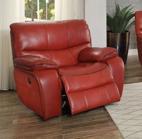 Pecos Collection Glider Reclining Chair 8480RED-1 - Pearl Igloo