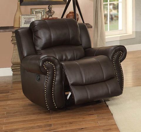 Annapolis Collection Glider Reclining Chair 8489BRW-1 - Pearl Igloo - 1