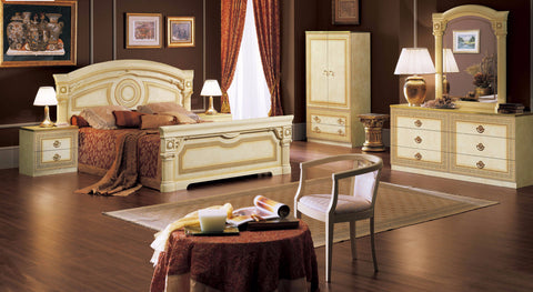 Aida Ivory 4 Pcs Queen Bedroom Set - Pearl Igloo - 1
