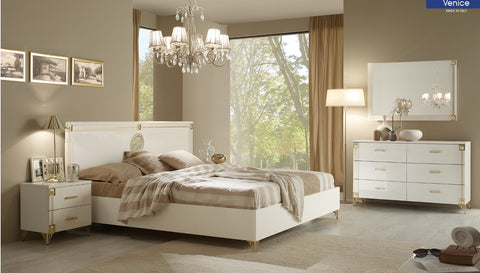 Venice 4 Pcs Queen Bedroom Set - Pearl Igloo - 1