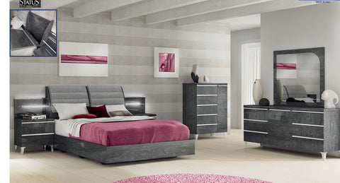 Elite 4 Pcs King Bedroom Set - Pearl Igloo - 1
