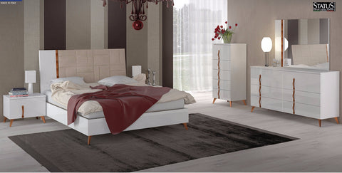 Sirio 4 Pcs King Bedroom Set - Pearl Igloo - 1