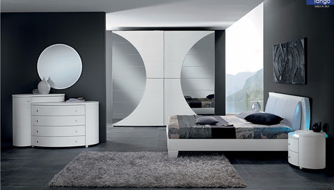 Tango 4 Pcs King Bedroom Set - Pearl Igloo - 1