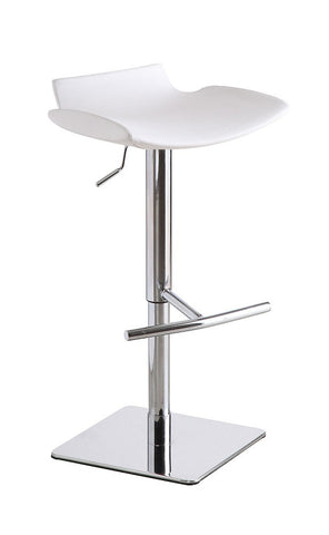 C159-3 Swivel White Barstool SKU17740 - Pearl Igloo - 1