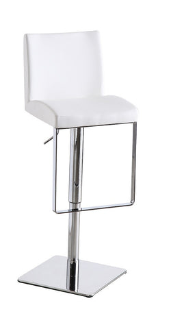 C171-3 White Swivel Barstool  SKU17750 - Pearl Igloo - 1