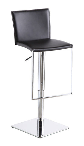 C-183B-3 Black Leather Barstool SKU17745 - Pearl Igloo - 1