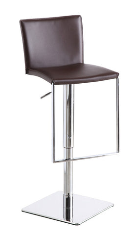 C-183B-3 Brown Leather Barstool SKU17746 - Pearl Igloo - 1
