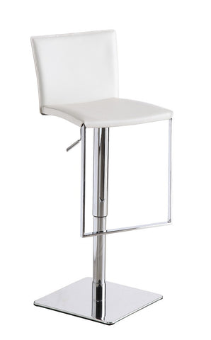 C-183B-3 White Leather Barstool SKU17747 - Pearl Igloo - 1