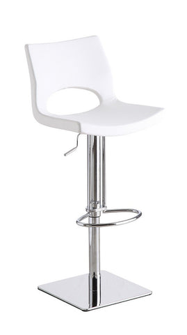 C203-3 White Swivel Barstool SKU17756 - Pearl Igloo - 1