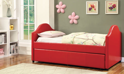 Cresson Red Day Bed with Trundle CM1959RD - Pearl Igloo