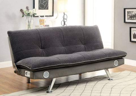Gallagher Futon Sofa CM2675GY - Pearl Igloo