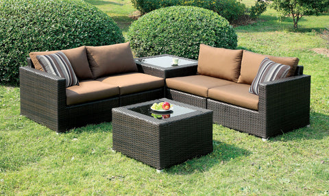 CM-OS1817BR Outdoor Patio Sectional Sofa Alago Collection - Pearl Igloo