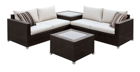 CM-OS1817IV Outdoor Patio Sectional Sofa Alago Collection - Pearl Igloo