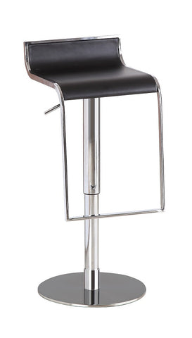 C027B-3 Black Leather Barstool SKU17730 - Pearl Igloo - 1