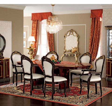 Luxor Day Mahogany 7 Pcs Dining Table and Chair Set - Pearl Igloo - 1