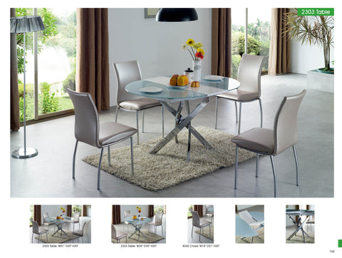 ESF 5 Pcs Dining Table and Chairs Set - Pearl Igloo - 1