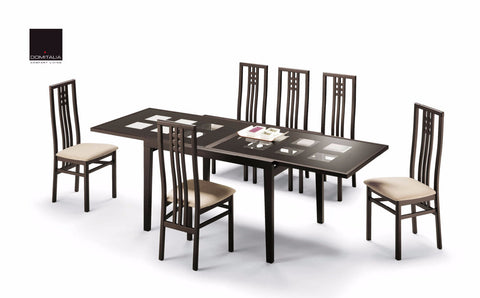 Poker Cappuccino 7 Pcs Dining Table and Chair Set - Pearl Igloo - 1