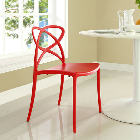 Enact Dining Side Chair In Red - EEI-1492-RED (2Piece) Free Shipping - Pearl Igloo - 1