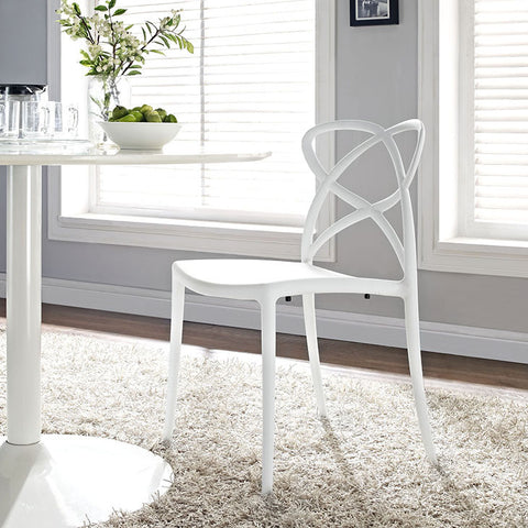 Enact Dining Side Chair In White - EEI-1492-WHI (2Piece) Free Shipping - Pearl Igloo - 1