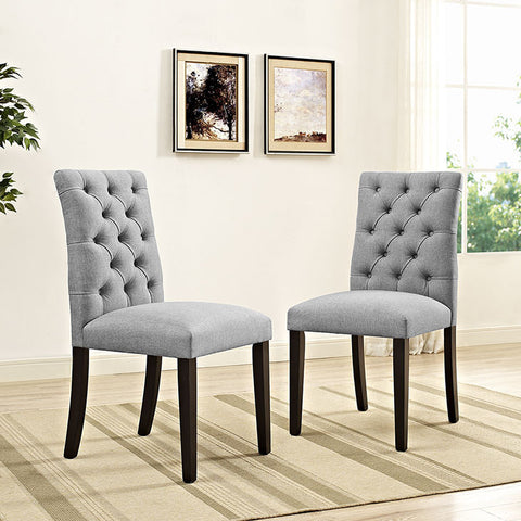 Duchess Fabric Dining Chair In Light Gray - EEI-2231-LGR (2Piece) Free Shipping - Pearl Igloo - 1