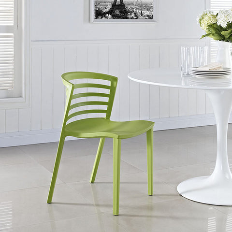 Curvy Dining Side Chair In Green - EEI-557-GRN (2Piece) Free Shipping - Pearl Igloo - 1
