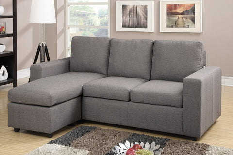 Poundex Reversible Sectional Sofa F7491 - Pearl Igloo
