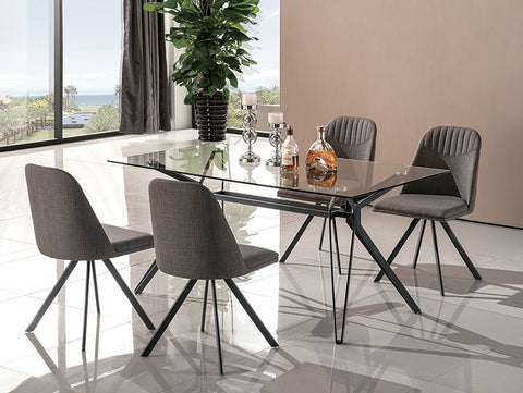 Fresno Modern 5 Pcs Dining Set SKU18226 - Pearl Igloo