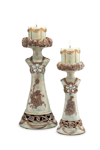 L94203C Candle Holder Set - Pearl Igloo