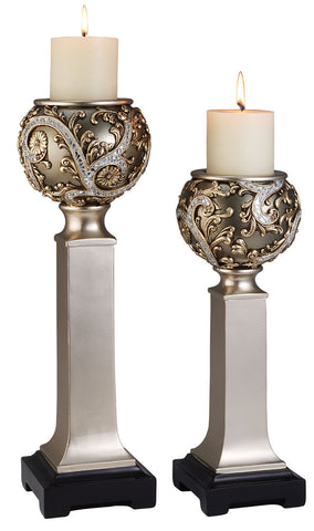 L94232C Candle Holder Set - Pearl Igloo