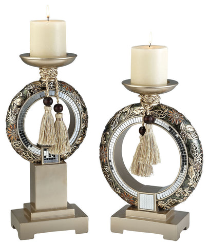 L94238C Candle Holder Set - Pearl Igloo