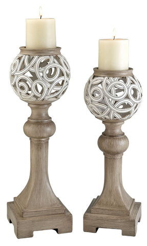 L94241C Candle Holder Set - Pearl Igloo