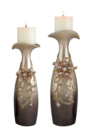 L94248C Candle Holder Set - Pearl Igloo