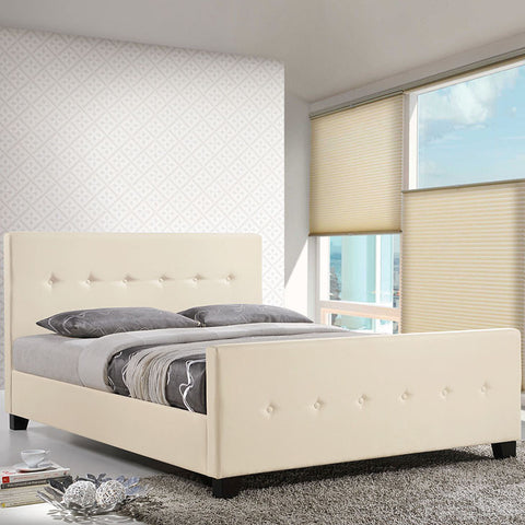 Abigail Queen Bed In Ivory - MOD-5226-IVO-SET - Pearl Igloo - 1