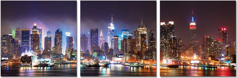 Premium Acrylic Wall Art New York- SH-71051ABC SKU18155 - Pearl Igloo