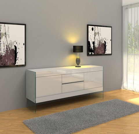 Modrest Aura Modern White Floating  Buffet  VGCNAURAWHT-SIDEBOARD - Pearl Igloo