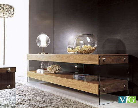 Modrest Aura Modern Walnut Floating TV Stand VGCNAURAWAL-TV - Pearl Igloo