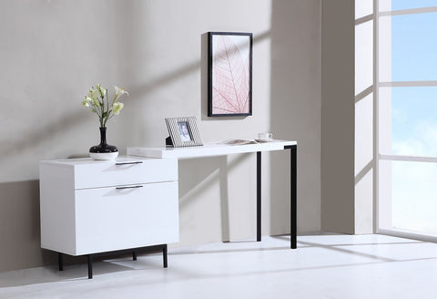 Wanda Modern Office Desk SKU18074 - Pearl Igloo - 1