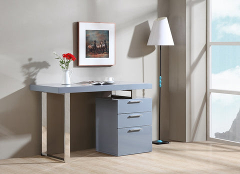 Zurich Modern Office Desk SKU18126 - Pearl Igloo - 1