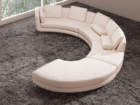 Divani Casa A94 - Contemporary Bonded Leather Sectional Sofa & Ottoman VGYIA94-BL - Pearl Igloo