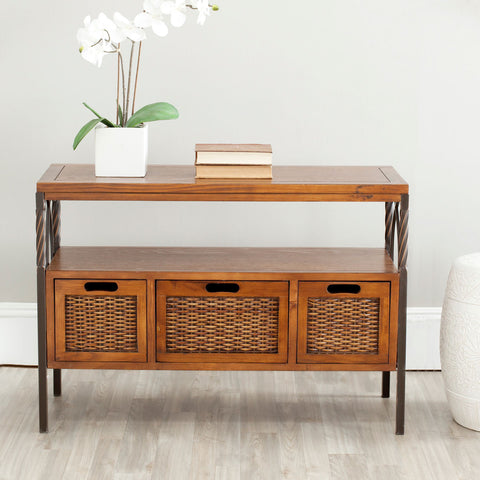 Joshua 3 Drawer Console Table AMH6532A - Pearl Igloo - 1