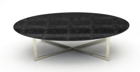 A&X  Black Crocodile Coffee Table VGUNAA883-148 - Pearl Igloo - 1