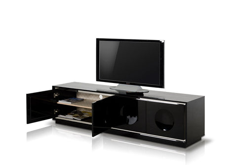 A&X Grand Modern Black Crocodile Lacquer TV Stand VGUNCK6306-200-BLK - Pearl Igloo - 1
