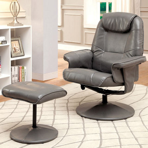 Stanton Gray Swivel Recliner Chair CM-AC6239GY
