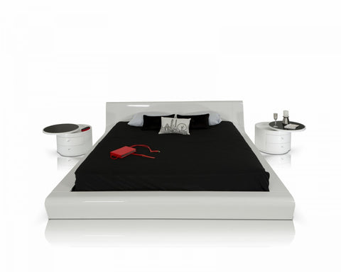 Modrest Symphony Contemporary White Lacquer Queen Bedroom Set - VGWCSYMPHONY - Pearl Igloo - 1