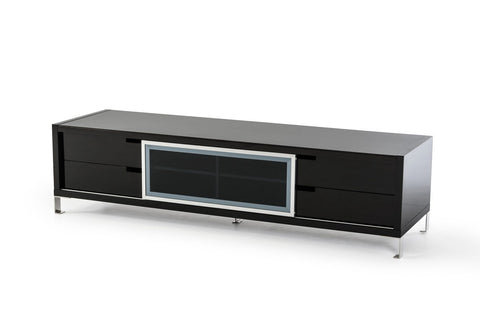 Modrest Edward Modern  Black High Gloss TV Stand VGBBLE30F-BLK - Pearl Igloo - 1
