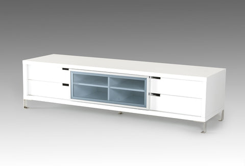 Modrest Edward Modern White TV Stand VGBBLE30F-WHT - Pearl Igloo