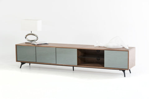 Modrest Kennedy Modern Walnut TV Stand VGBB1403F-WAL - Pearl Igloo - 1