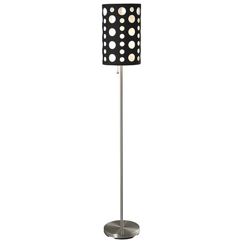 Hoolie Floor Lamp- L79300FBK-WH - Pearl Igloo