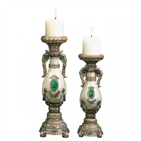 Gabriela Candle Holder Set- L94188C-4PK - Pearl Igloo